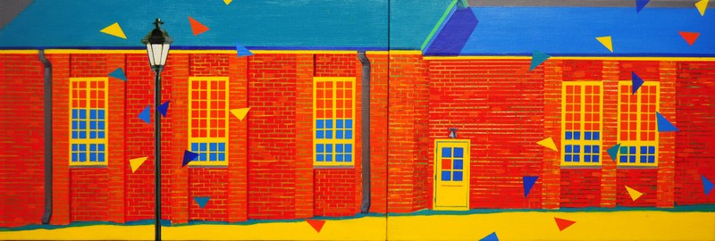 The House   Acrylic on Canvas   39X13 in   2012