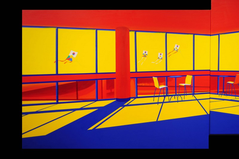 Moving in the Shadows II   Acrylic on Canvas   48X36 in   2012