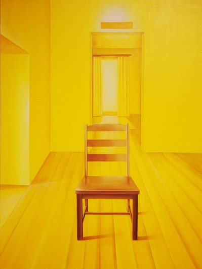Chair Series Yellow Space   Acrylic on Canvas   30X40 in   2012