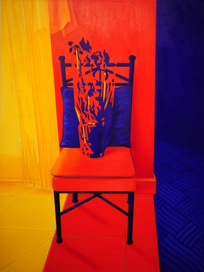 Vase on the Chair   Oil on Canvas   36X48 in   2012