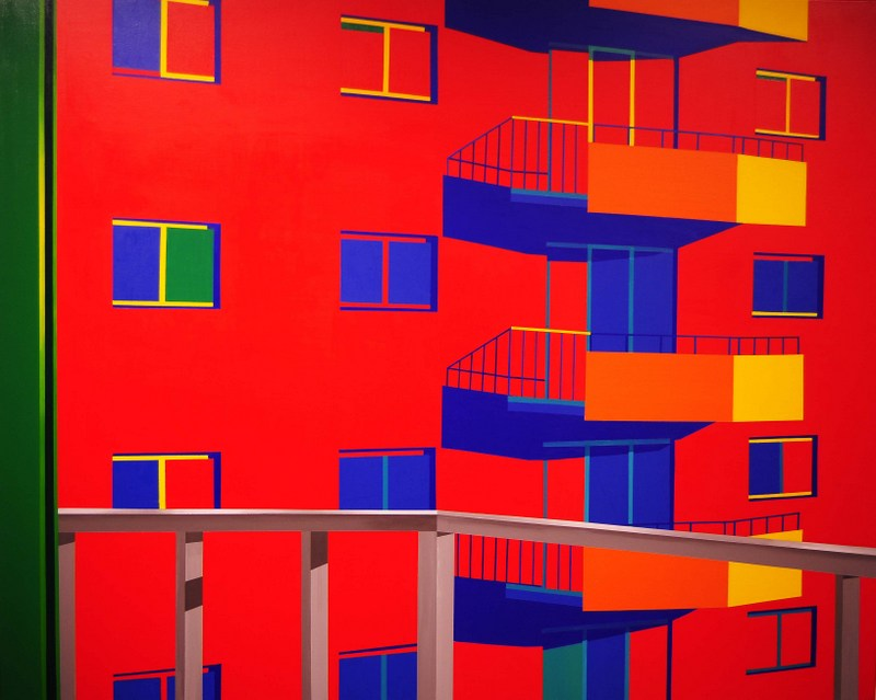 Image of Windows   Acrylic on Canvas   60X46 in   2012