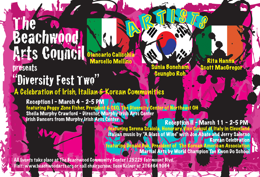 Front Side of DiversityFest 2 Card