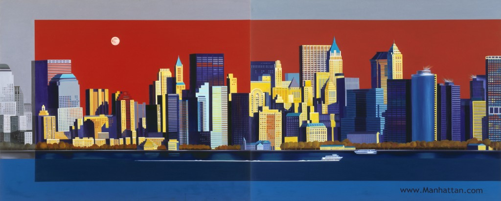 Image of Manhattan | Oil on Canvas | 324X130cm | 2009