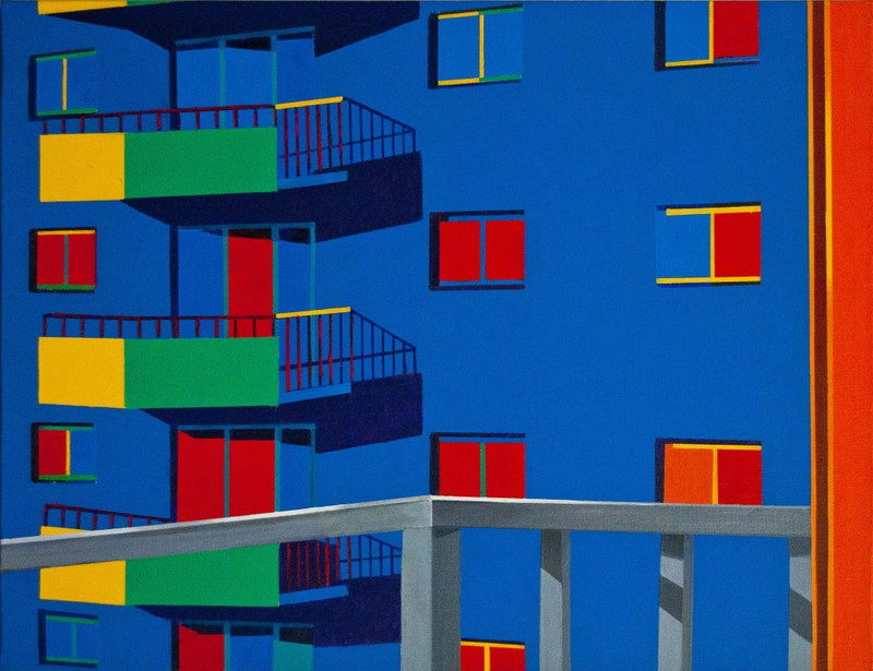 Each Other II   Acrylic on Canvas   25.50X19.75 in   2012