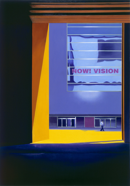 NOW ! VISION Purple Space | Oil on Canvas& Silk Print | 112X162cm | 2010