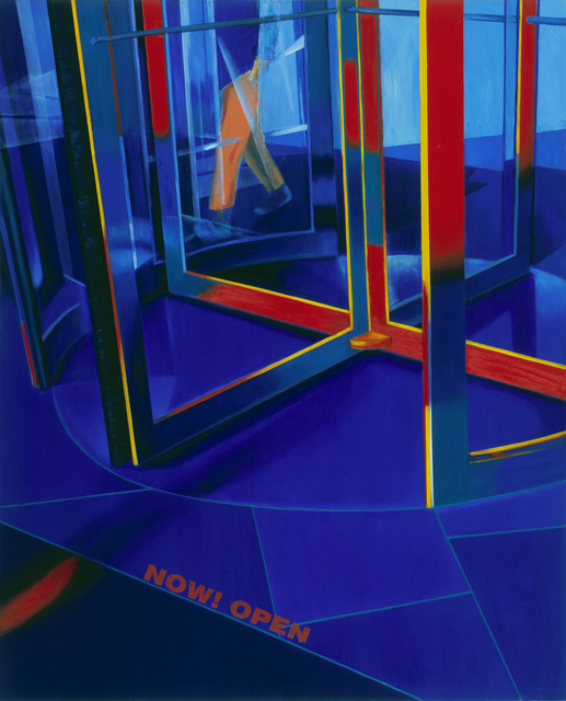 Revolving Door in Blue Space | Oil on Canvas | 130X162cm | 2010