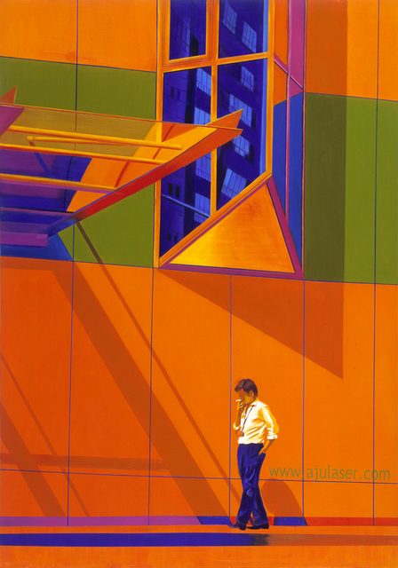 The Buildings in Orange Space | Oil on Canvas | 112X162cm | 2010