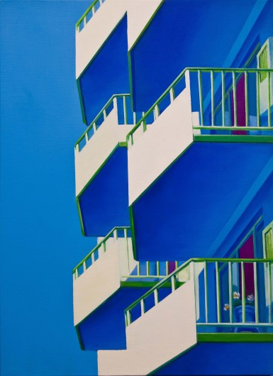 Balcony   Oil on Canvas   21X29 in   2012
