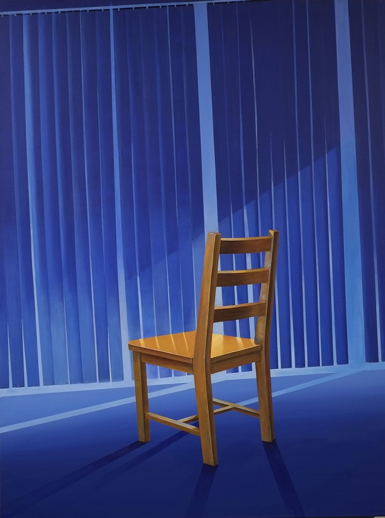 Chair Series Blue Space | Acrylic on Canvas | 30X40 in | 2014
